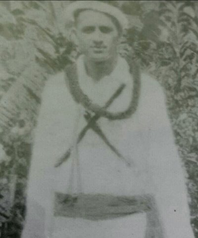 Photograph of Tuainekore o Anautoa Rei Jack Enoka who served with the Cook Islands Local Defence Force.