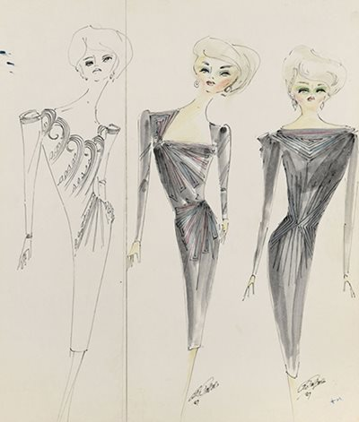 "Papas\u0027 ""simplicity with a difference\"" can be seen in these sketches from 1987."