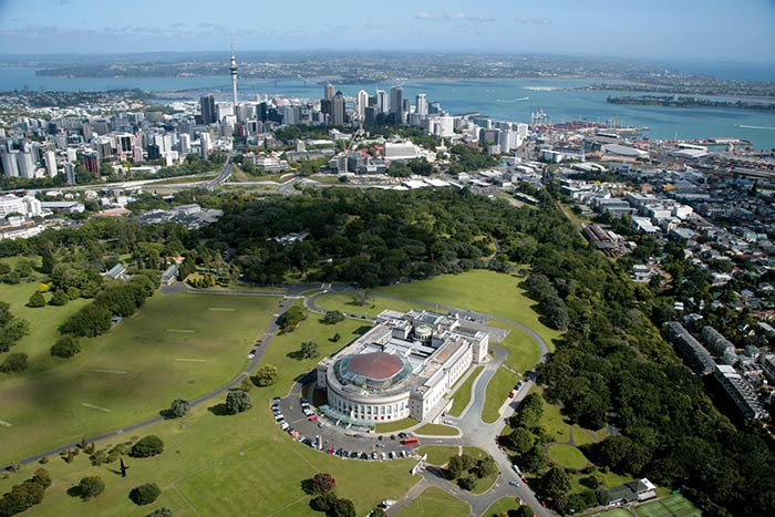 Auckland Museum is built on the crater of Pukekawa– the hill of bitter tears.