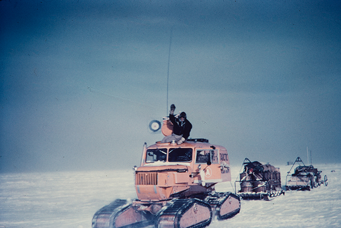 Unknown photographer (1958) - Vivian Fuchs arrives at the South Pole, Antarctica