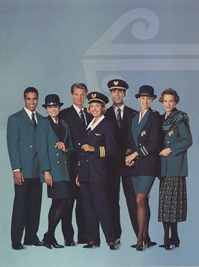 Barbara Lee\u0027s design, introduced in 1992, was rolled out to the entire airline staff. For the first time, travellers saw Air New Zealand dressed as a team.