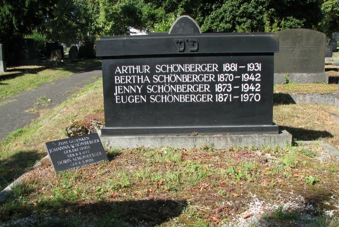 The Schoenberger family grave in Mainz.