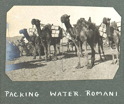 Troops travelled with their own water supplies - carried by camel.