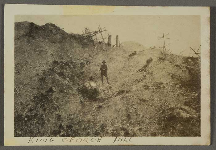 King George Hill, 1916. This spot near Fricourt was also known as Hill 110.