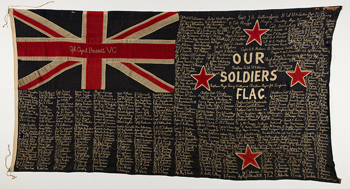 Our Soldiers Flag, the New Zealand Ensign fundraising signature flag, 1915.
