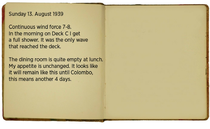 Egon\u0027s diary for 13 August 1939 (translated).