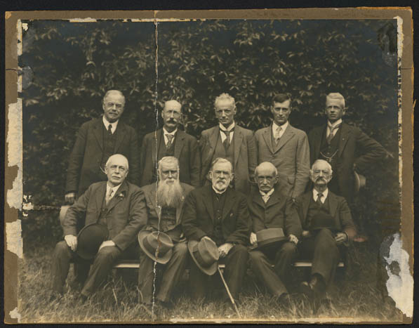 Auckland Museum Institute Council 1927 including Gilbert Archey and Dr Purchase