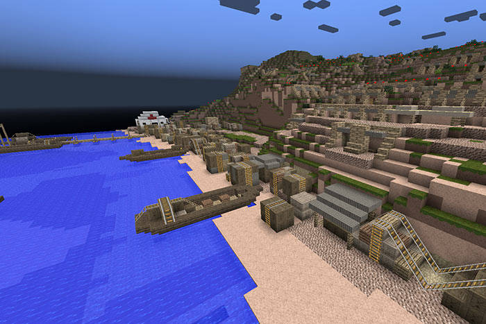 Anzac Cove, Gallipoli in Minecraft created by Alfriston College students.