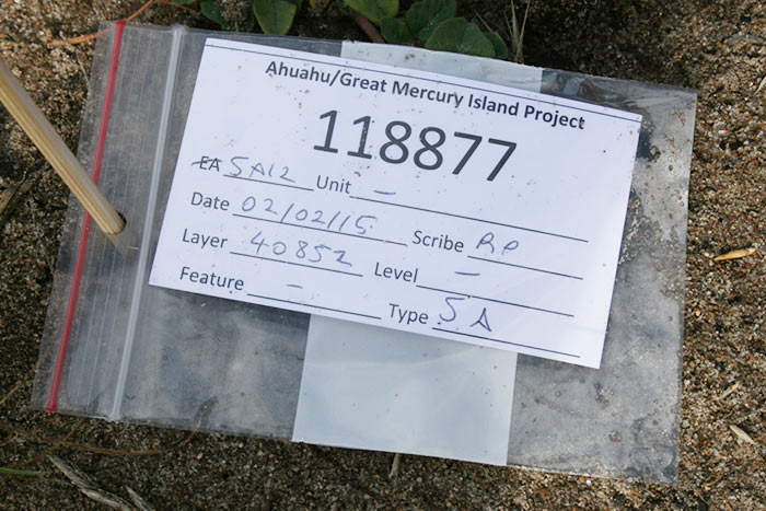 The unique ID allows each artefact and sample to be tracked through the analysis. Each layer also has a unique ID.