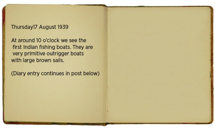 Egon\u0027s diary entry 17 August 1939 (translated). Full entry continues in post below.