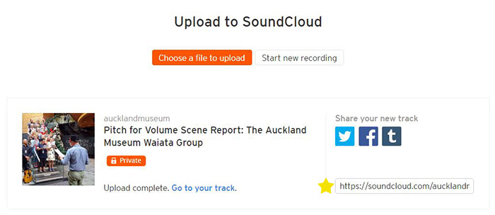 How to upload your pitch to SoundCloud - Volume: Making Music in